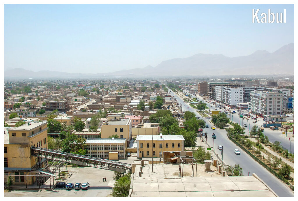 Afghanistan: A general view of the green zone in Kabul, Afghanistan.